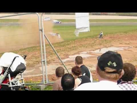 Jason Plato Roll Crash BTCC donington park