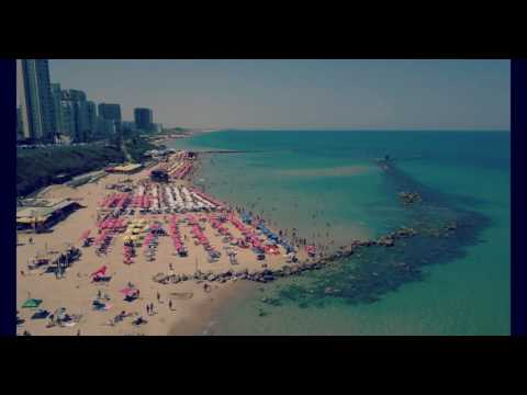 Let's Fly above beautiful Bat Yam Beach