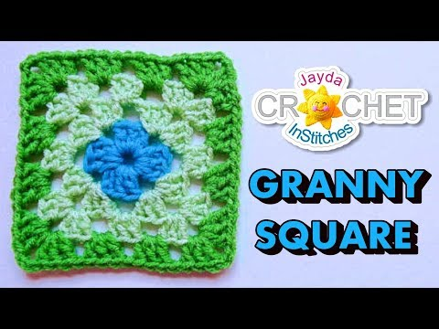How To Crochet a Granny Square - Beginners Tutorial & Basic