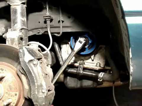 How To Use A Breaker Bar To Remove A Crank Pulley Bolt On
