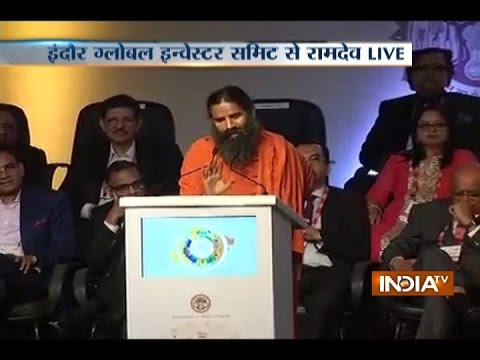 Baba Ramdev Speaks at Global Investors Summit in Indore, Madhya Pradesh