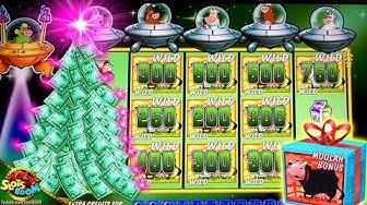 HUGE BONUS!!! Better then JACKPOT!!! Invaders Return From The Planet Moolah!!! 1c WMS Slots
