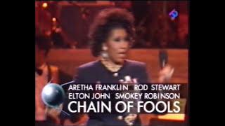 Aretha Franklin Chains of Fools with Rod Stewart Elton John Smokey Robinson 1993 Mp3