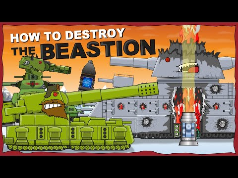 """""""How to destroy the Monster BEASTION?"""" -  Cartoons about tanks"""