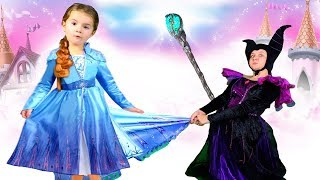Ruby & Bonnie become Princess Elsa and Maleficent