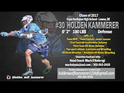 Holden Kammerer 2016 Highlights -  Committed to Franklin and Marshall College