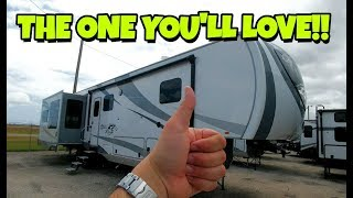 Wow! Very cool MID-BUNK Fifth Wheel from Open Range!