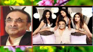 ZARDARI FUNNY PICTURE WITH MUNNI BADNAM BY NADEEM ABAS