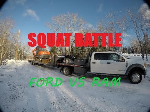FORD F-550 VS RAM 5500 30K SQUAT BATTLE!!!