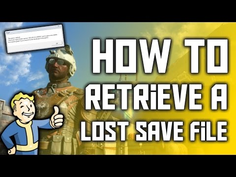How To Retrieve Your Lost Save File In Fallout 4!
