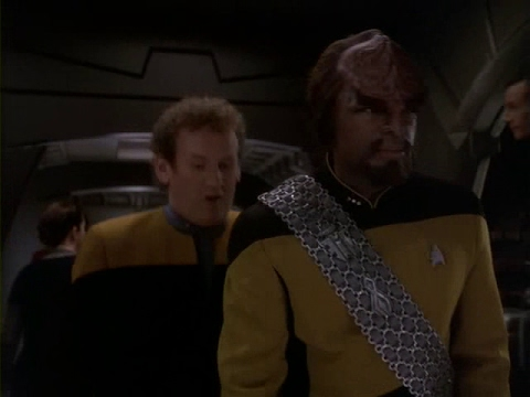 Lt. Commander Worf and Chief O'Brien meet again