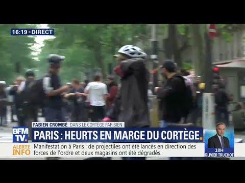Manifestation à Paris: quelques heurts en marge du cortège