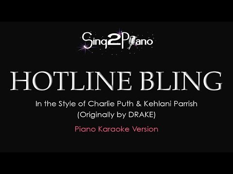 Piano chords hotline bling