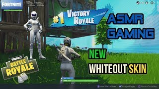 ASMR Gaming - France Fortnite 1er jeu avec New Whiteout Skin - Glider ★Controller Sounds - Whispering