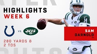 Sam Darnold's Big Day w/ 280 Yards & 2 TDs vs. Colts