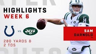 Sam Darnold Highlights vs. Colts