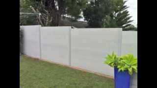 Slimwall Time Lapse Installation July 2012 - Designer Boundary & Acoustic Fencing