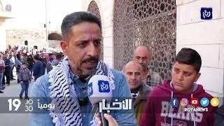 مواجهات بين الفلسطينيين وقوات الاحتلال اثناء تشيع احد الشهداء