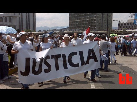 Guatemala Protests: Cellphone Video from Twitterers  (BB Video)