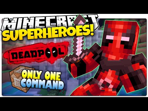 Minecraft Superhero | DEADPOOL | Only One Command (Minecraft Custom Command)