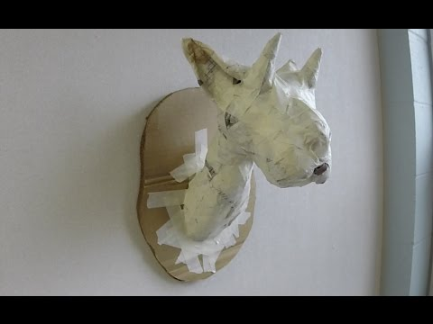 How to Make a Paper Mache Trophy Head, pt. 1