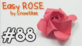 COOL Origami ROSE EASY origami - Yakomoga Origami tutorial