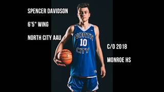 Spencer Davidson - c/o 2018 - Summer AAU Highlights (Bellevue, Anaheim, Vegas)