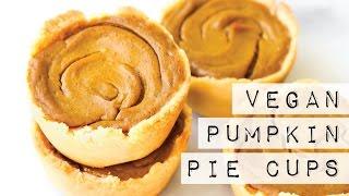 Vegan Pumpkin Pie Cups {gluten-free & oil-free}