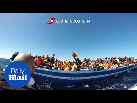 Italian Coast Guard rescues approx. 1000 Libyan migrants - Daily Mail