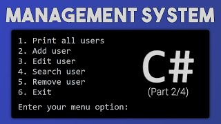 How to make a Management System in C# - Part 2/4 (features, refactoring)