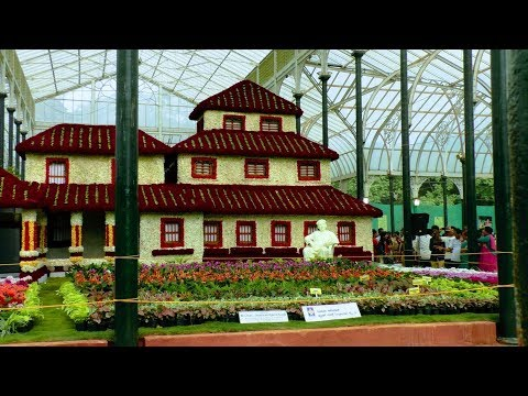 Bangalore Lal Bagh Independence Day Flower Show 2017 ( H D )