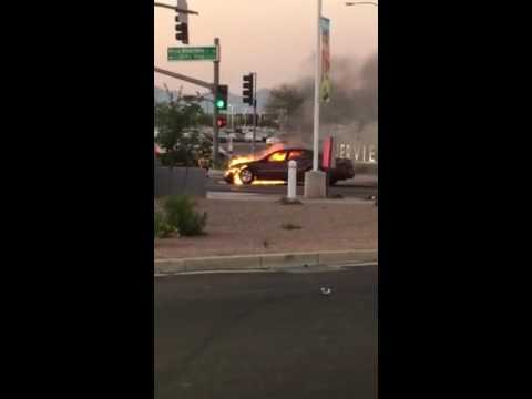Mesa, AZ car fire Mesa Riverview
