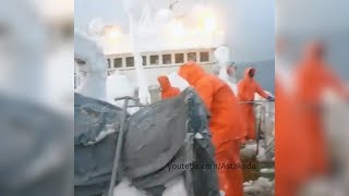 Astakada Владивосток Поиск рыболовного судна Восток в Японском море. Видео с соседнего судна