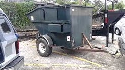 New prototype designed rental trailer used as a Junk Removal Service dumpster