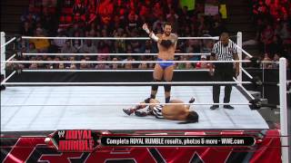 Bo Dallas vs. Wade Barrett - Raw Roulette Players Choice Match: Raw, Jan. 28, 2013