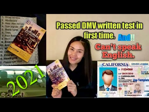 Ep.2 สอบใบขับขี่ข้อเขียน อเมริกาปี 2021 How to passed DMV written test in first time. 2021