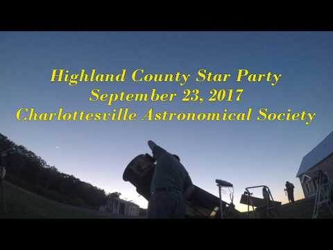 Highland County Star Party 9/23/17