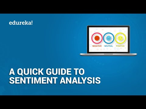 A Quick Guide To Sentiment Analysis | Sentiment Analysis In Python Using Textblob  |  Edureka