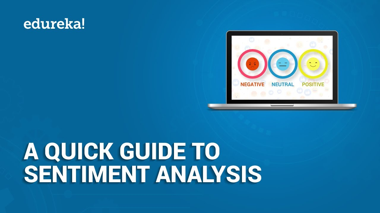 A Quick Guide To Sentiment Analysis | Sentiment Analysis In Python Using  Textblob | Edureka