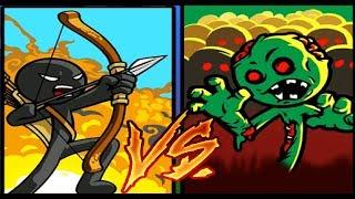 СТИКМЕНЫ против ЗОМБИ СТИКМЕНОВ  Игра на андроид Stick War Legacy #Мобильные игры