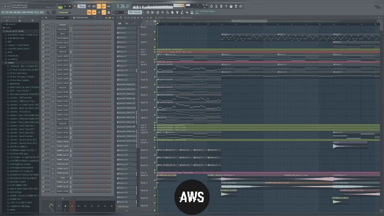 Alan Walker - Faded (AWS Remake v3)