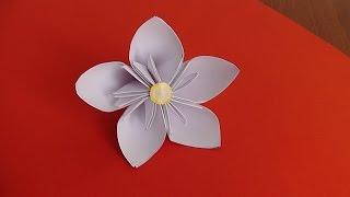 Цветок из бумаги. Очень просто!!! Оригами
