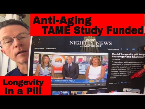 Longevity: TAME study funded! Metformin Trial for Anti-Aging - YouTube