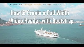 How to Create a Full Width Video Header with Bootstrap(Learn how to create a responsive full width video header for a website using Bootstrap. Video headers add a personalized touch and are used on sites such as ..., 2015-02-03T01:55:39.000Z)