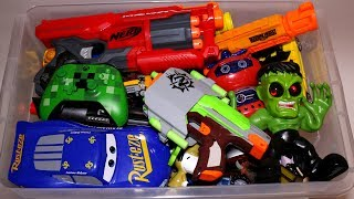 - Toy Box Action Figures, Cars, Nerf Guns and More