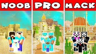 Minecraft - FAMILY SANDSTORM BATTLE! NOOB vs PRO vs HACKER in Minecraft Animation!