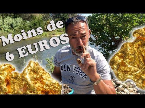 COMMENT TROUVER DE L'OR ( GOLD ) AVEC MOINS DE 6 EUROS DE MATOS ORPAILLAGE RIVIERE FRANCE CHRISDETEK