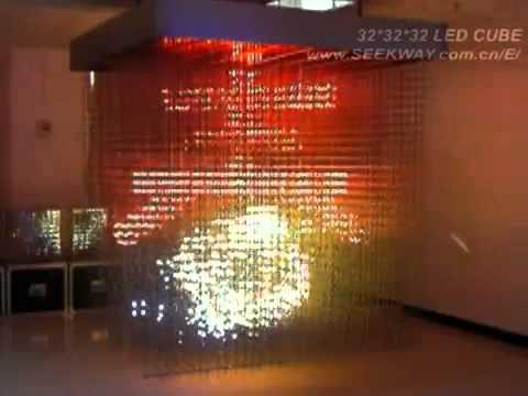 3D светодиодный куб (32 на 32