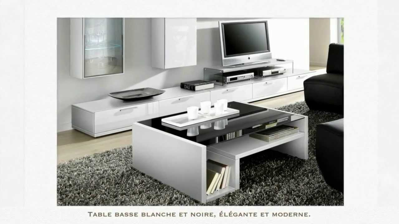Table basse design tables basses meuble et canap youtube - Meuble tv table basse ...