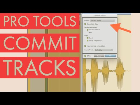 Pro Tools 12 Commit Track